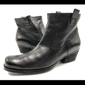 Nine West Glowy 10M Black Ankle Boots Booties